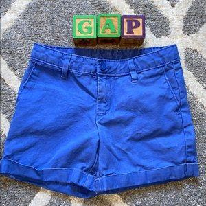 GAP Girls Midi Shorts in Blue Lagoon Size 7